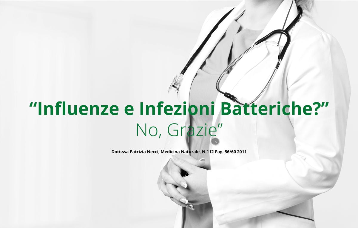 """Prevenzione influenza: """"Influenze e Infezioni Batteriche? No, Grazie"""""""