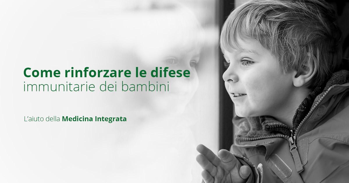 Come rinforzare le difese immunitarie dei bambini con la medicina integrata