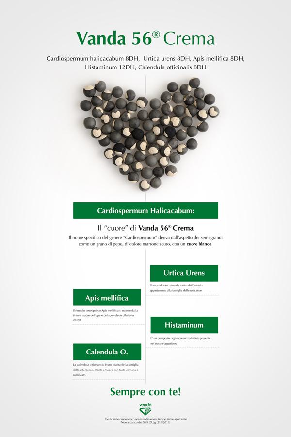 crema omeopatica cardiospermum e calendula. vanda 56 crema