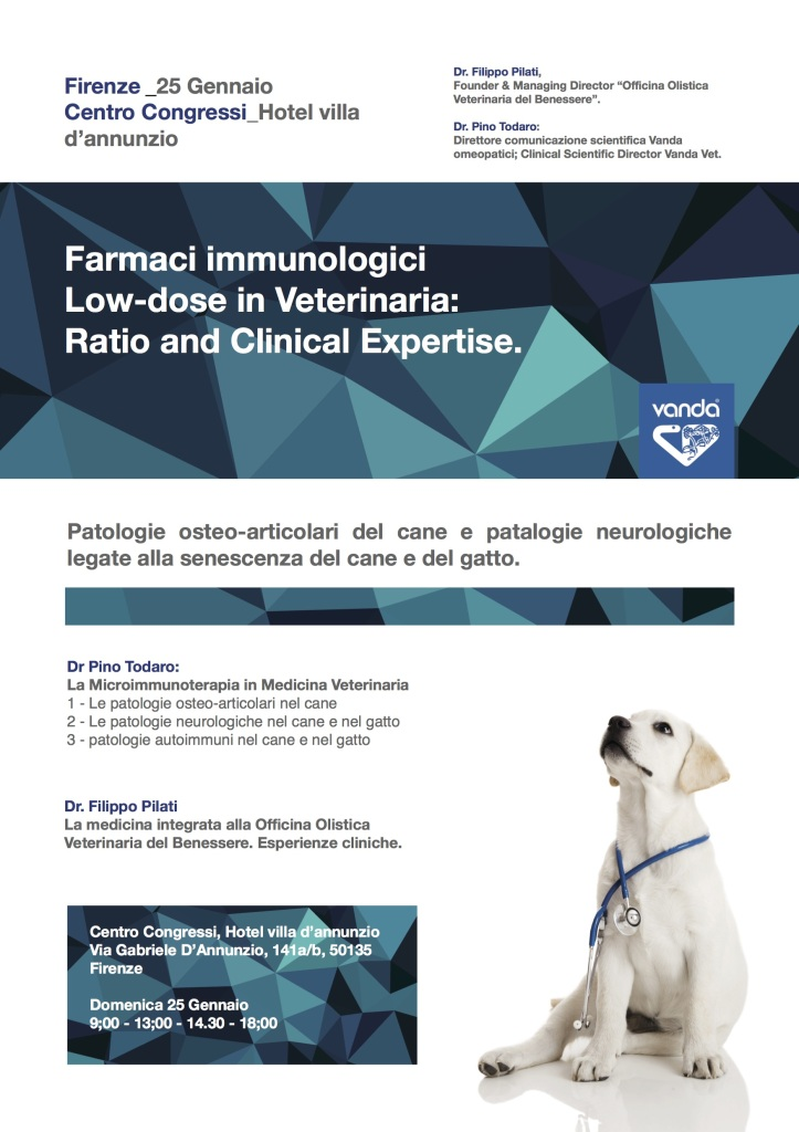 microimmunoterapia per l'artrosi del cane.