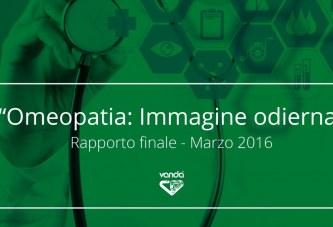Omeopatia: immagine odierna. Rapporto finale, Marzo 2016