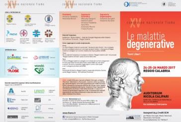 Le Malattie Degenerative. XV Convegno Nazionale F.I.A.M.O.
