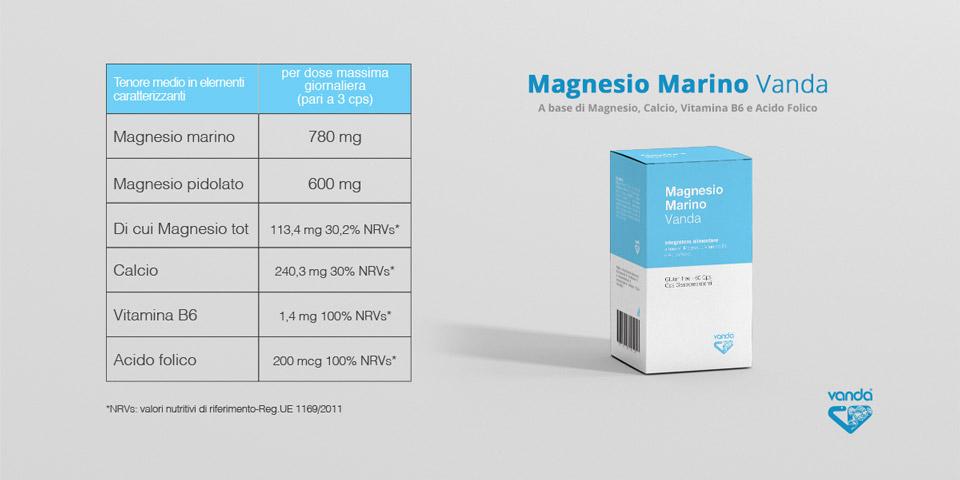 magnesio marino integratore tabella nutrizionale