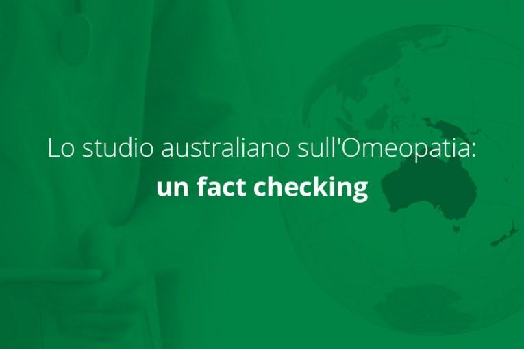 Lo studio australiano sull'Omeopatia: un fact checking