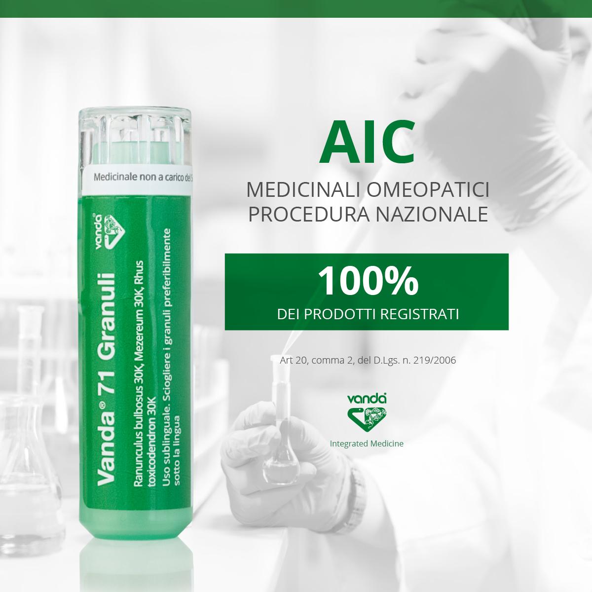 AIC Medicinali omeopatici prontuario nazionale