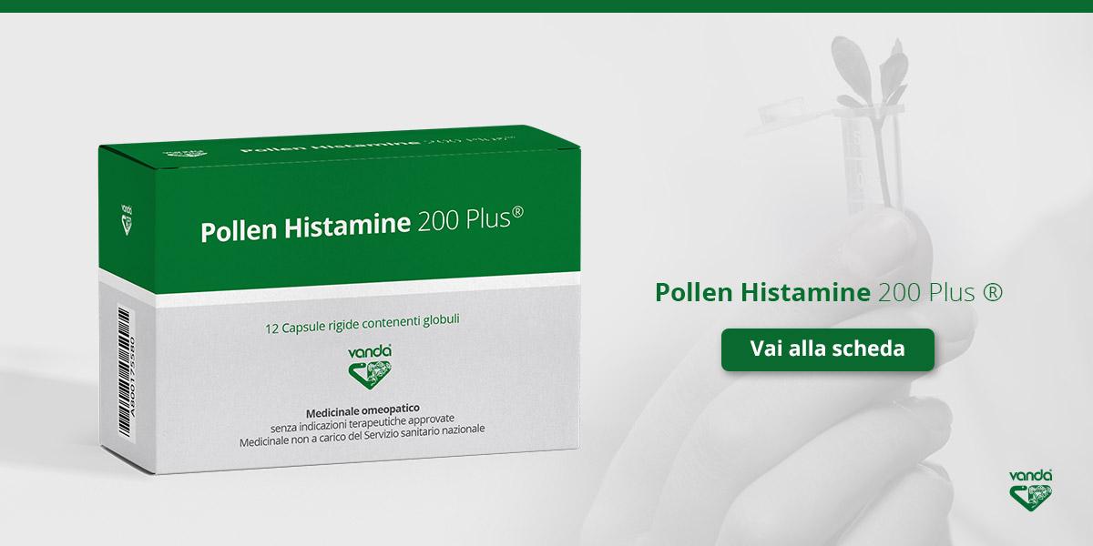 allergia e omeopatia pollen histamine 200 Plus Vanda
