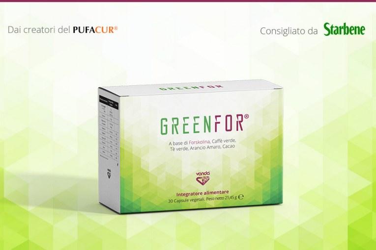 Greenfor® Integratore a base di Forskolina, Caffé verde, Té verde, Arancio amaro e Cacao