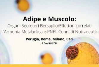 """""""Adipe e Muscolo"""": seminari di Perugia, Roma, Milano e Bari"""