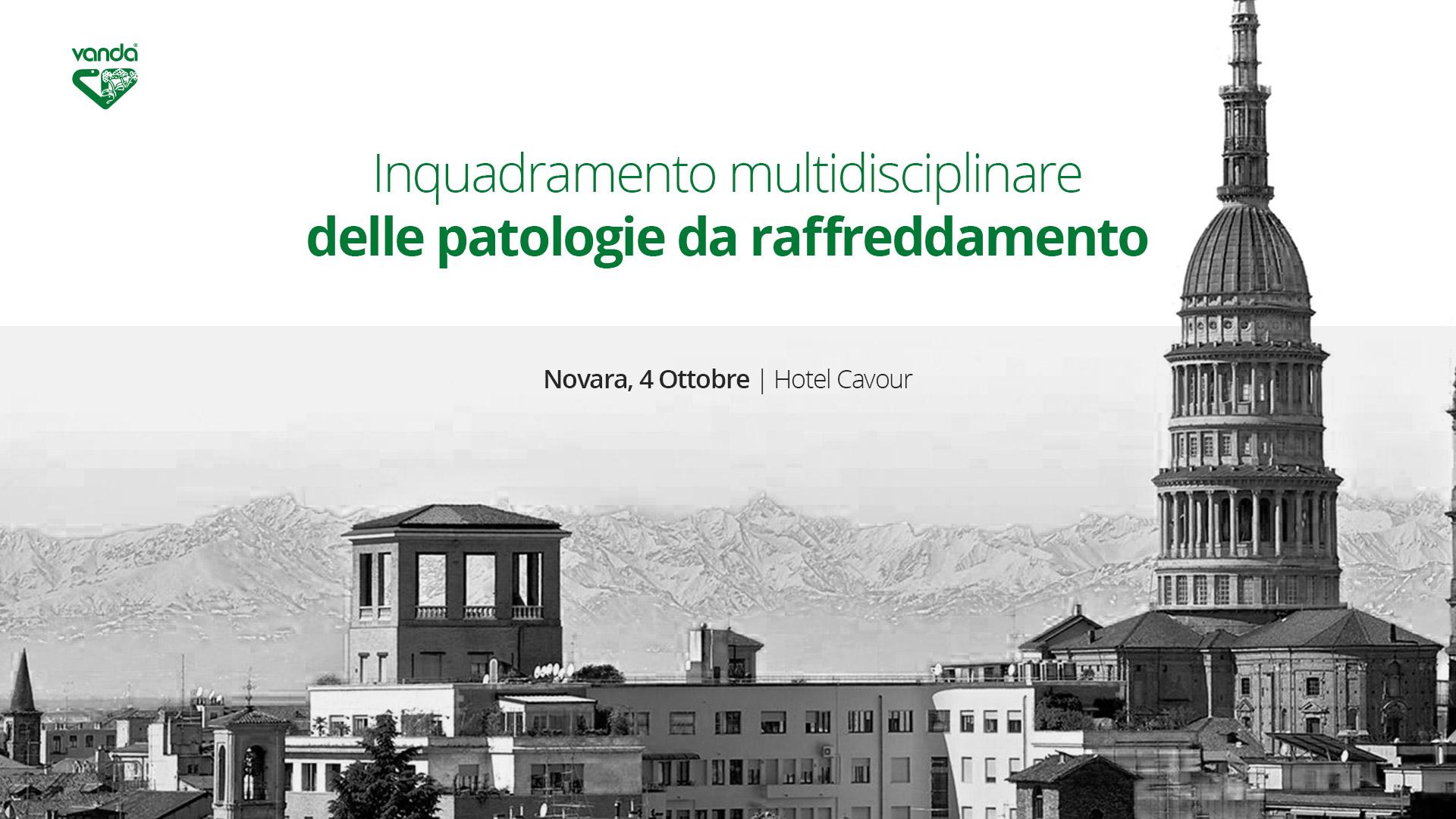 Novara, 4 Ottobre: Inquadramento multidisciplinare delle patologie da raffreddamento