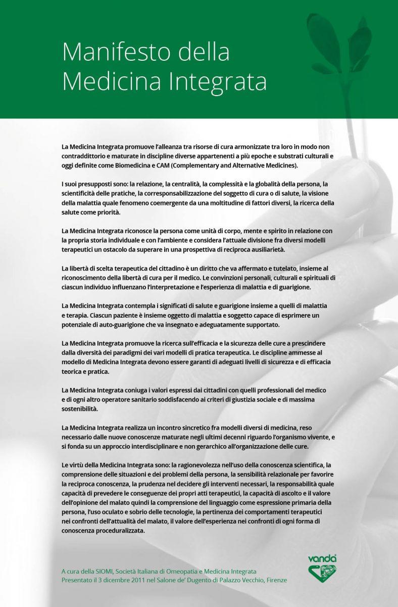 Vanda manifesto per la medicina integrata