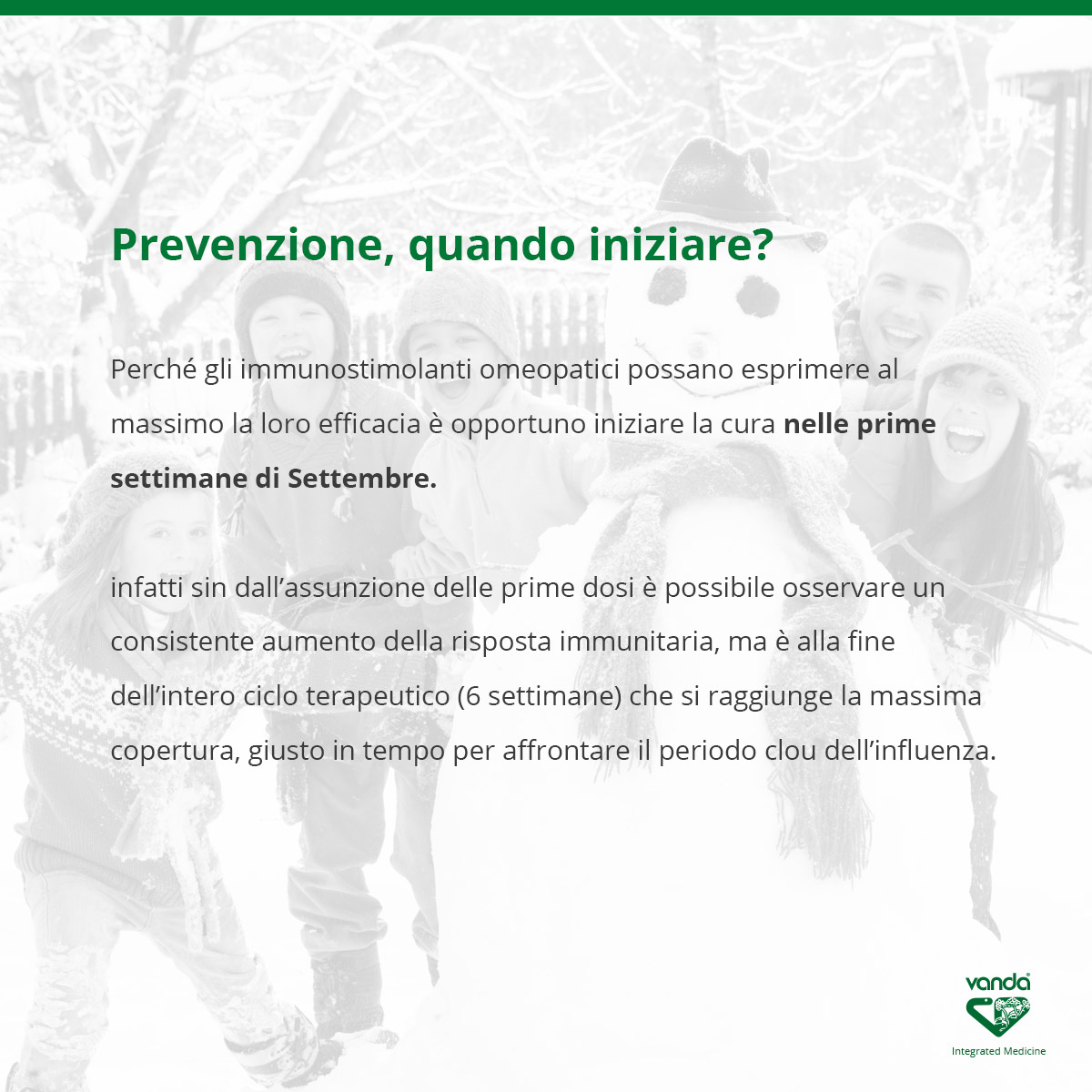 prevenzione influenza quando iniziare