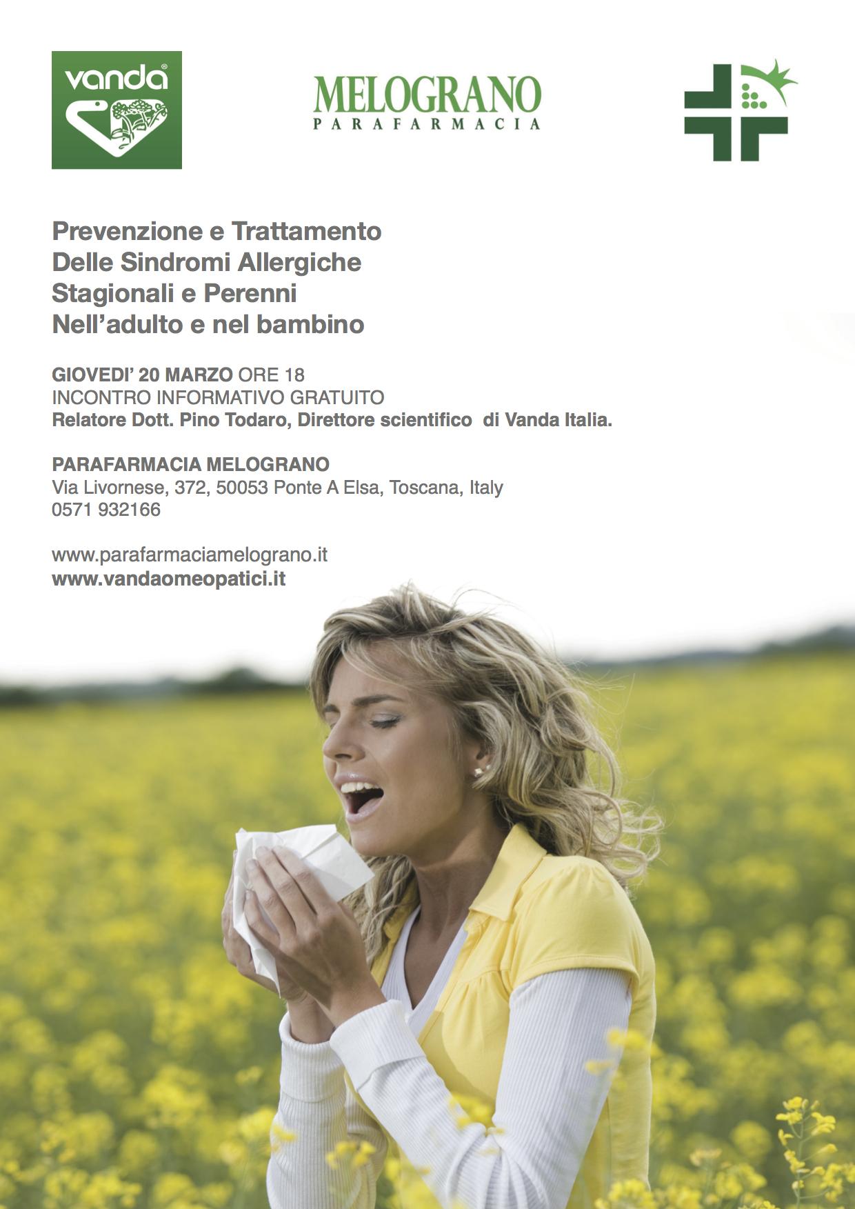 Prevenzione e Trattamento  Delle Sindromi Allergiche Stagionali e Perenni  Nell'adulto e nel bambino