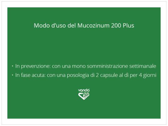 posologia Mucozinum 200 Plus