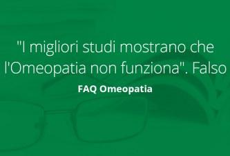 """""""I migliori studi mostrano che l'Omeopatia non funziona"""". Falso"""