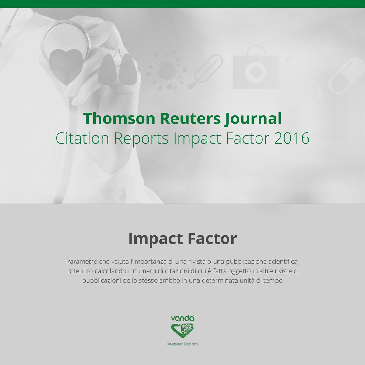 impact factor riviste scientifiche omeopatia