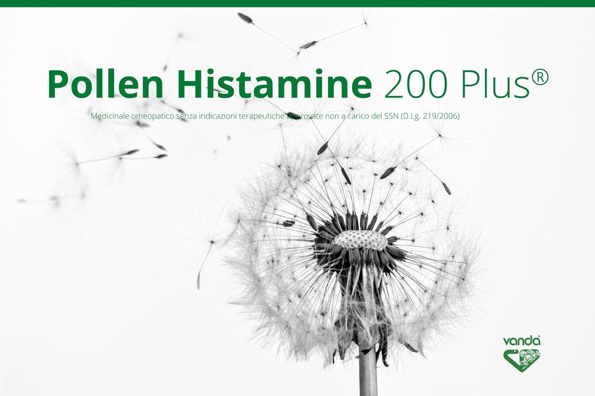 allergia e omeopatia. Pollen histamine 200 Plus.
