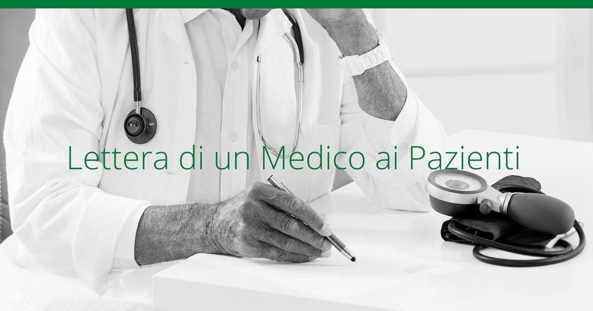 Lettera di un Medico per il Paziente. Il medico omeopata e la liberta' di scelta omeopatica del cittadino
