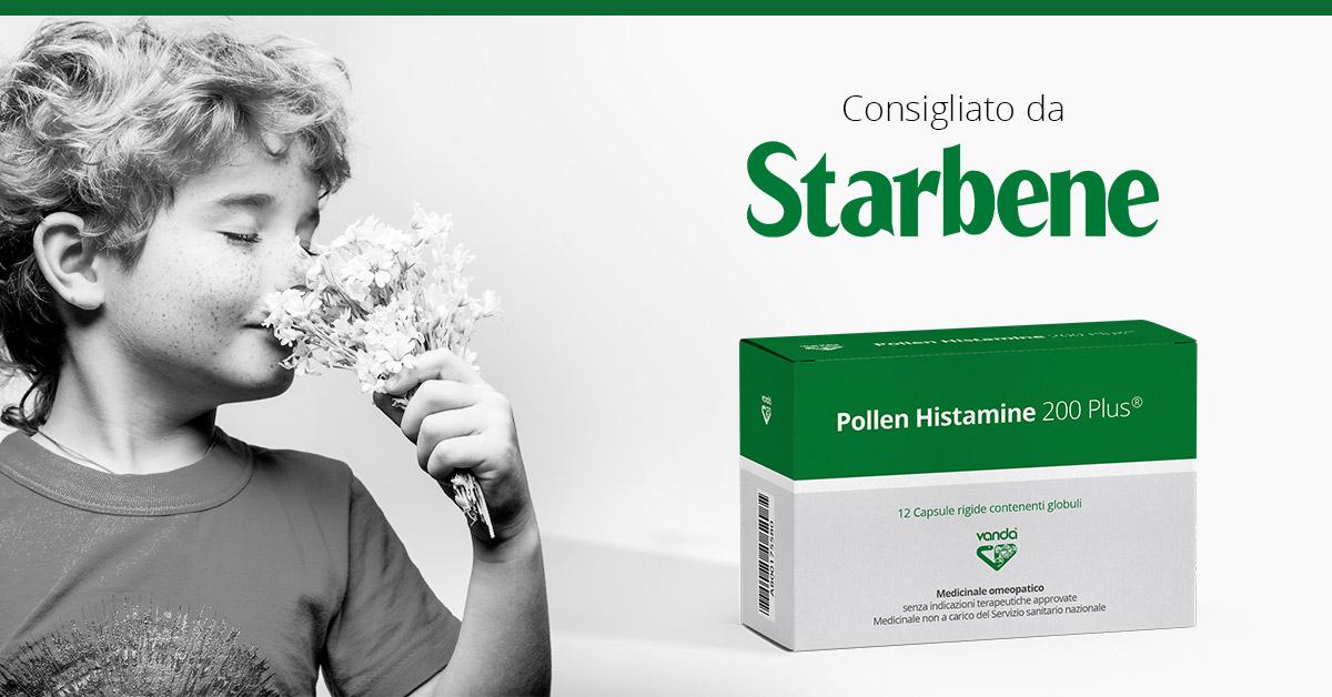 Allergie stagionali e perenni: Pollen Histamine 200 plus consigliato da Starbene