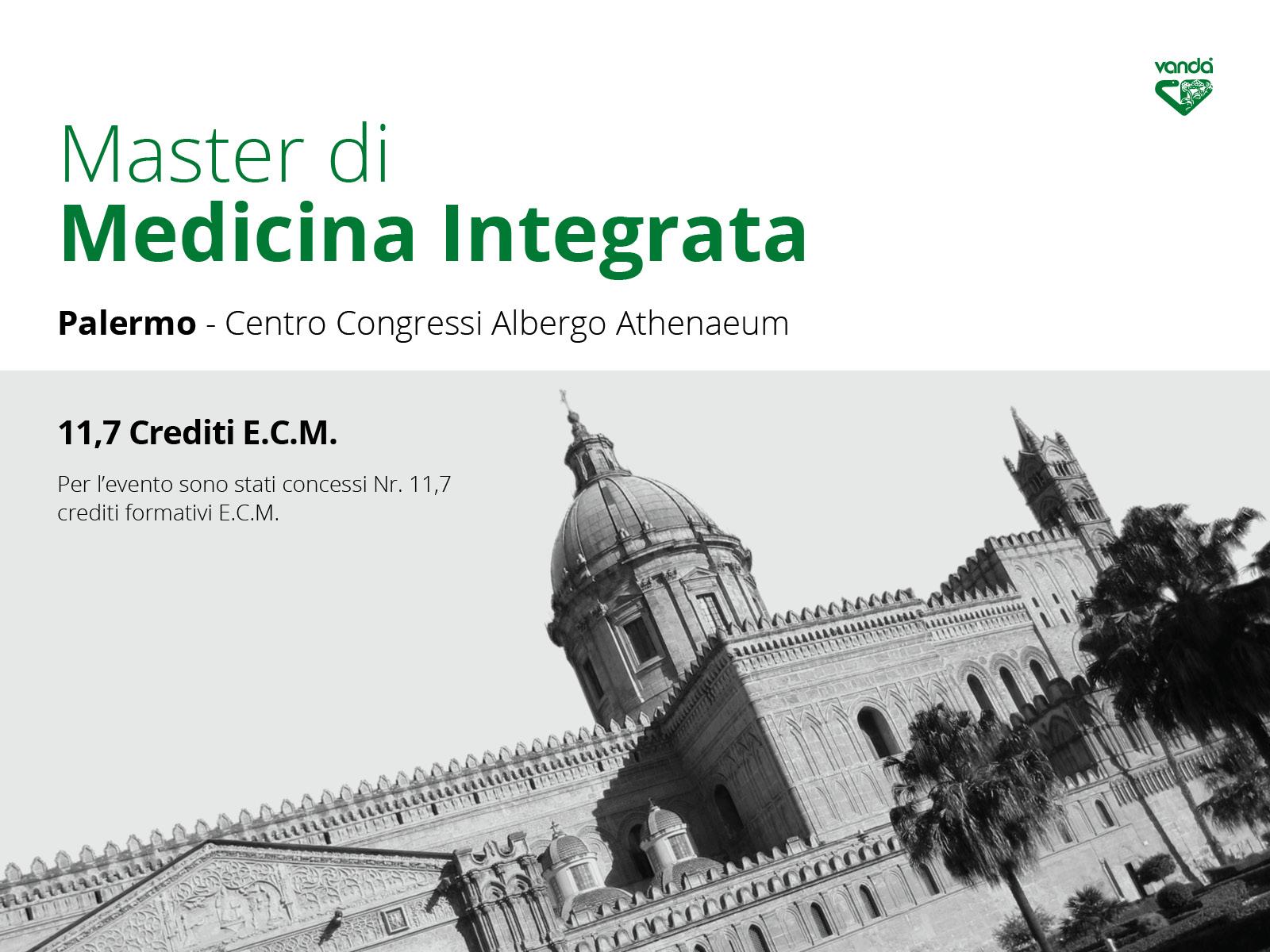Palermo, 22/9 - 13/10 - 24/11 - 15/12: Master di Medicina Integrata