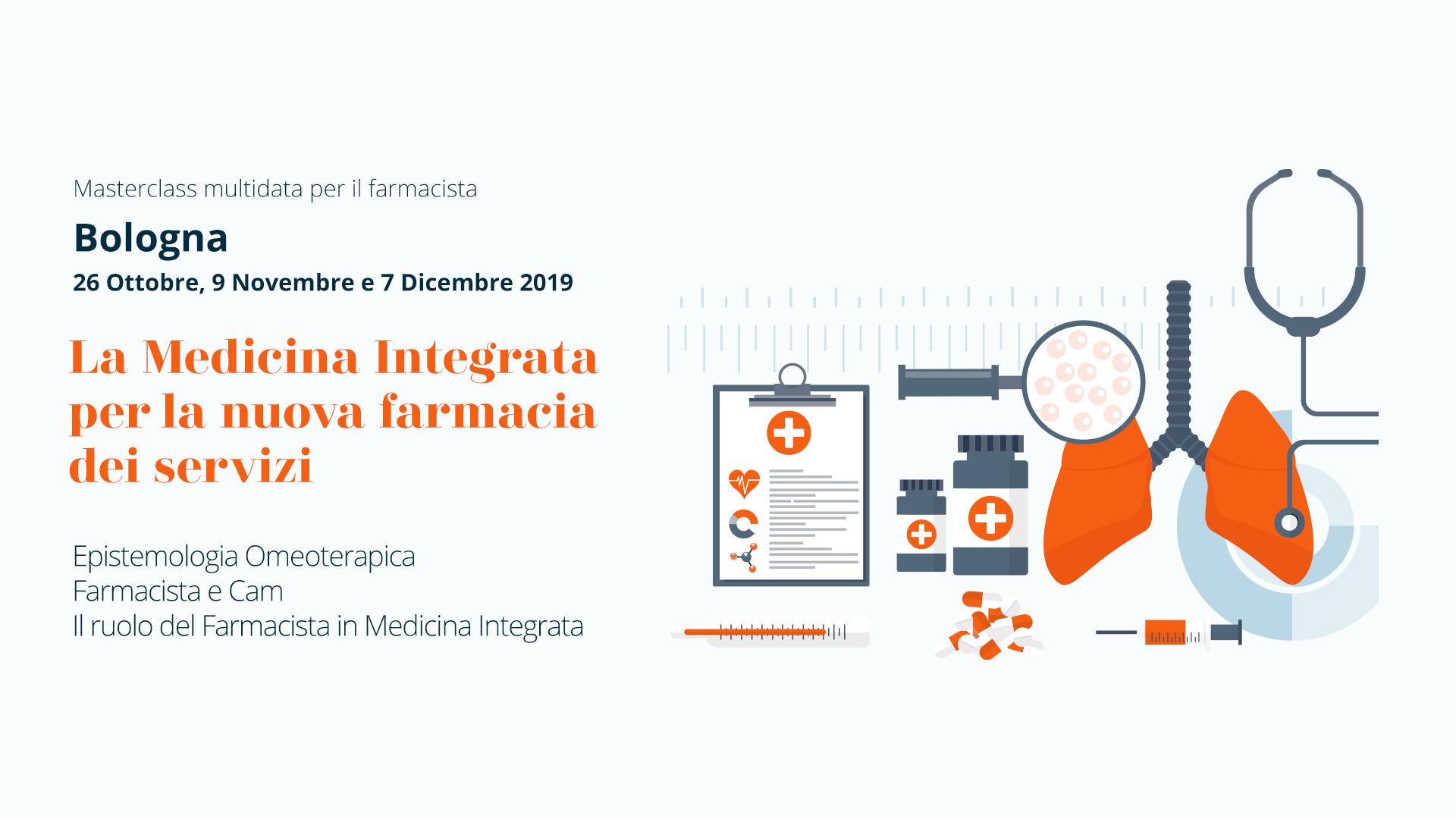 Bologna, Masterclass per farmacisti: La Medicina Integrata per la nuova farmacia dei servizi