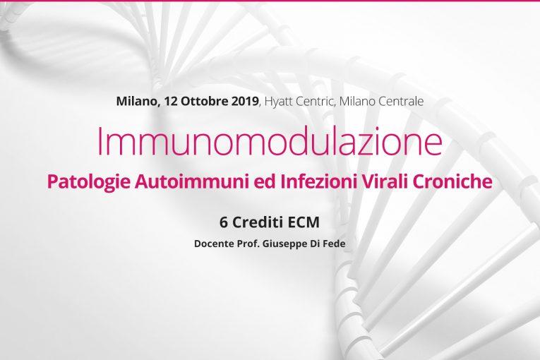 Milano, 12 Ottobre 2019: Immunomodulazione Patologie Autoimmuni ed Infezioni Virali Croniche