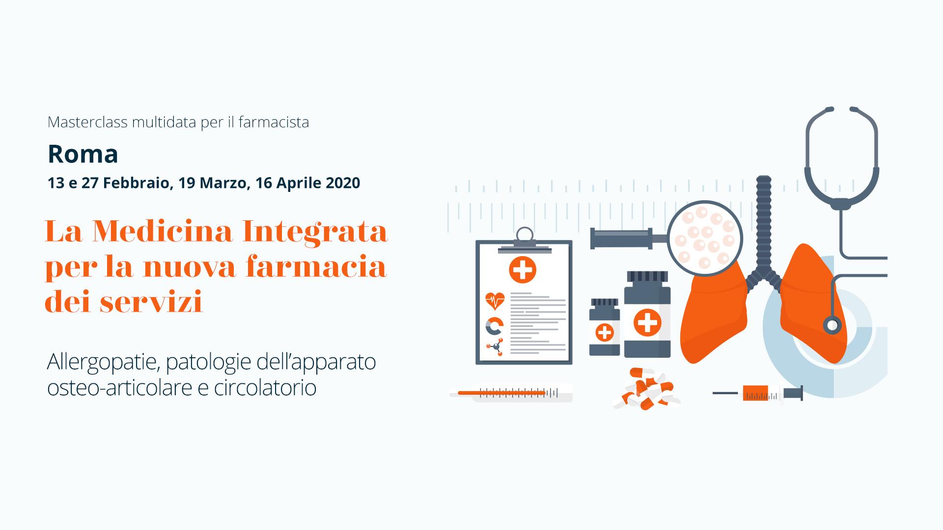 Roma, Masterclass Multidata per Farmacisti: La Medicina Integrata per la nuova farmacia dei servizi