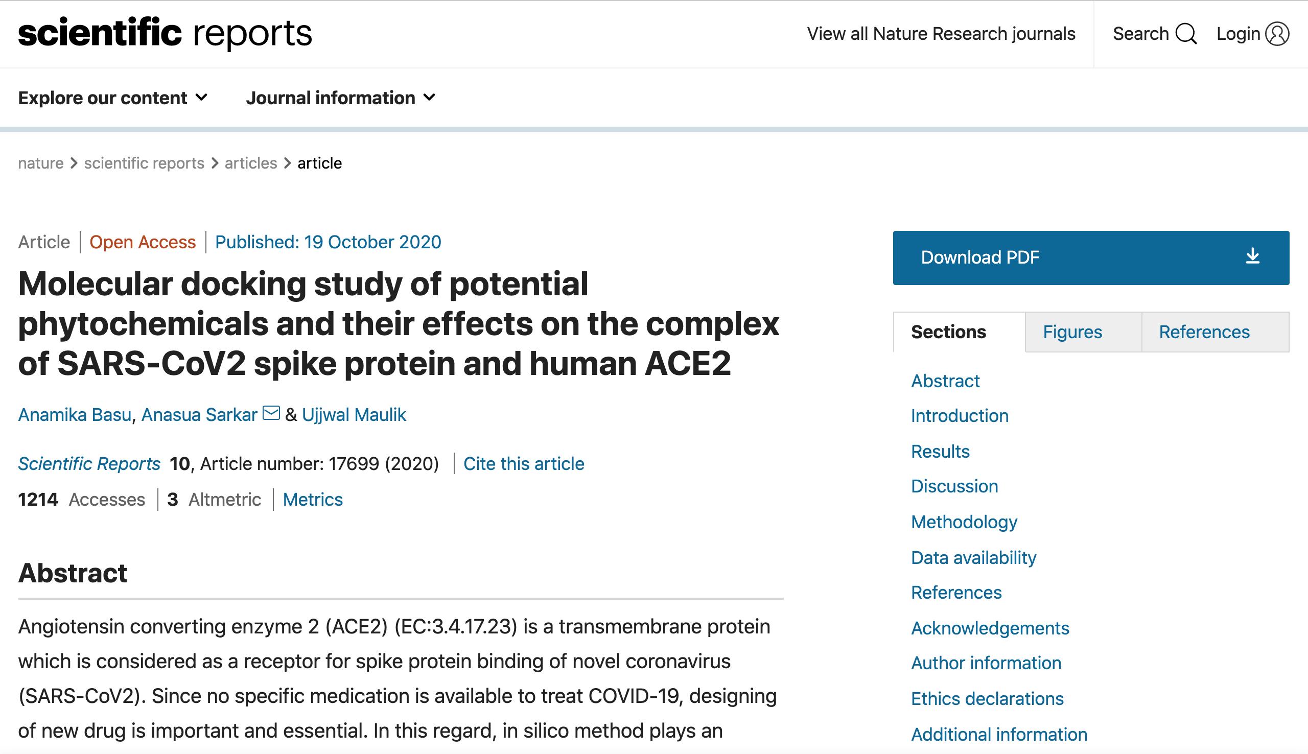 infografica: studio del docking molecolare di potenziali sostanze fitochimiche e dei loro effetti sul complesso della proteina spike SARS-CoV2 e dell'ACE2 umano