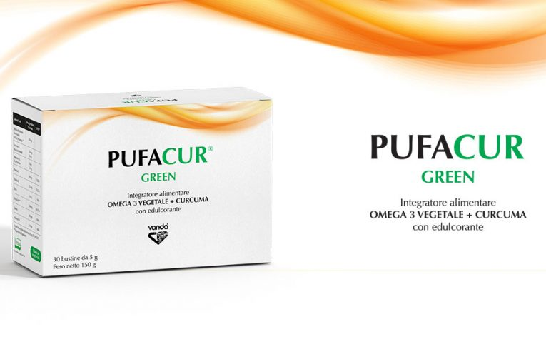 Pufacur Green, Integratore alimentare a base di OMEGA 3 vegetale + curcuma